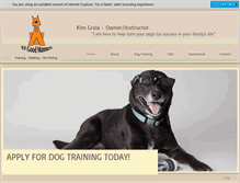 Tablet Preview of k9goodmanners.net